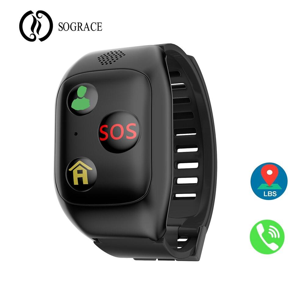 F08 пожилой Студент Smartwatch SOS для помощи gps LBS G-SENSOR 600 мАч Большой Батарея IP67 водостойкие Смарт часы для детей
