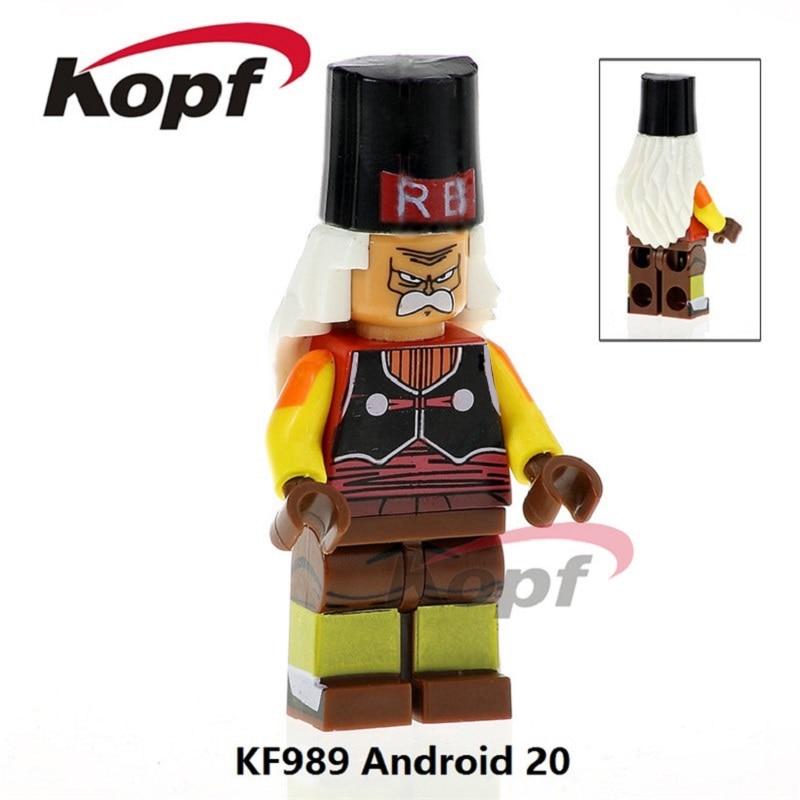 Building Blocks Single Sale Android 20 Dragon Ball Z Figures Freiza Mr. Satan Vegeta Super Sayayin God Toys for children KF989