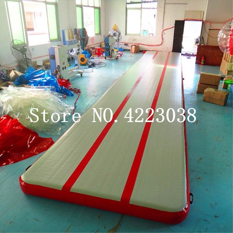 Bomba envío gratis, 6 m, 7 m, pista de aire hinchable de 8 m para gimnasia pista de aire inflable estera para gimnasio AirTrack para la venta