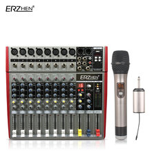 Audio Mixer Console W6000T8 Professional Mixer Audio Amplifier Sound Processor 8 Channel(China)