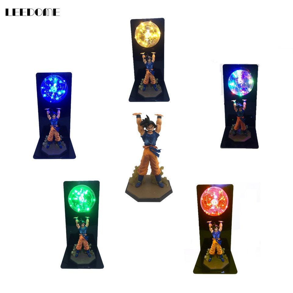 Dropship Dragon Ball Goku Strength Bombs Night Light Creative LED Table Lamp For Bedroom Study Decor Novelty Kids Birthday Gift