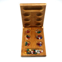 Children's Educational Toys Mancala Board Game Folding Bamboo Board Natural Agate Stone Travel Game For Children Board Game newest units 1 set connect 4 in a line board game educational toys for children sports entertainment for nin