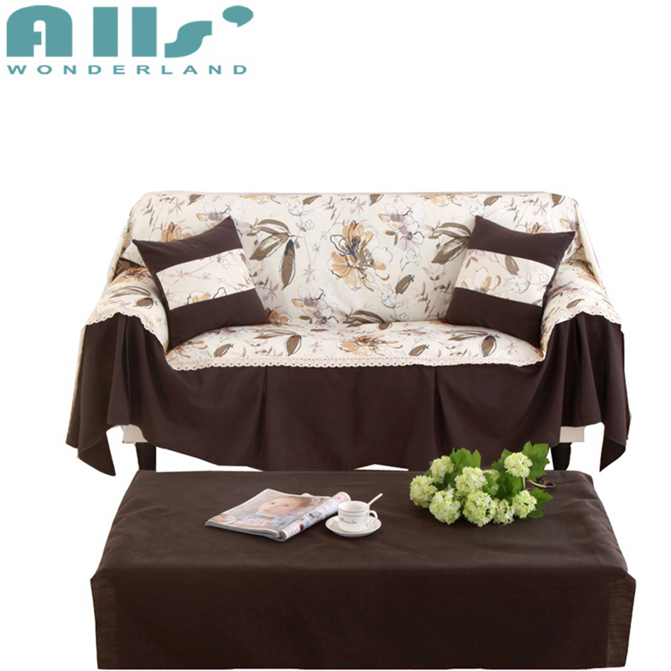 American Style Rustic Sofa Cloth/slipcovers Cotton/Linen