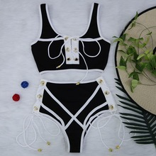 White Lace High Waist Swimsuit