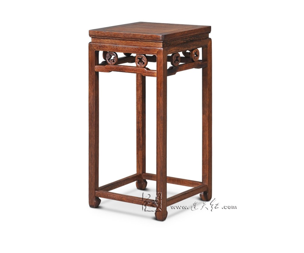 Table Lamp Flower Stand Chinese Royal Rosewood Living Room Furniture Solid Wood Console Side Incense Burner Desks Red Sandalwood stools with chi design living room low console table burma rosewood chinese classical antique furniture solid wood square bench