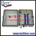 12 Núcleos De Fibra Óptica Ftth, Material del ABS, Caja de FTTH Caja de Distribución, PLC Divisor de Selección