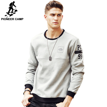 Pioneer Camp Thick Warm Fleece Hoodies Men