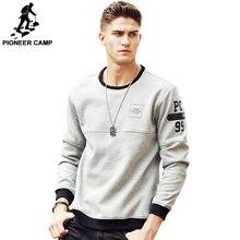 Pioneer Camp gruby ciepły polar bluzy z kapturem mężczyźni gorąca sprzedaż marki odzież jesień zima bluzy męskie jakości dres męski 699035