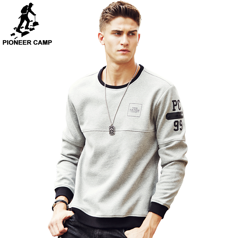 Pioneer Camp thick warm fleece hoodies men hot sale brand clothing spring winter sweatshirts male quality men tracksuit 699035