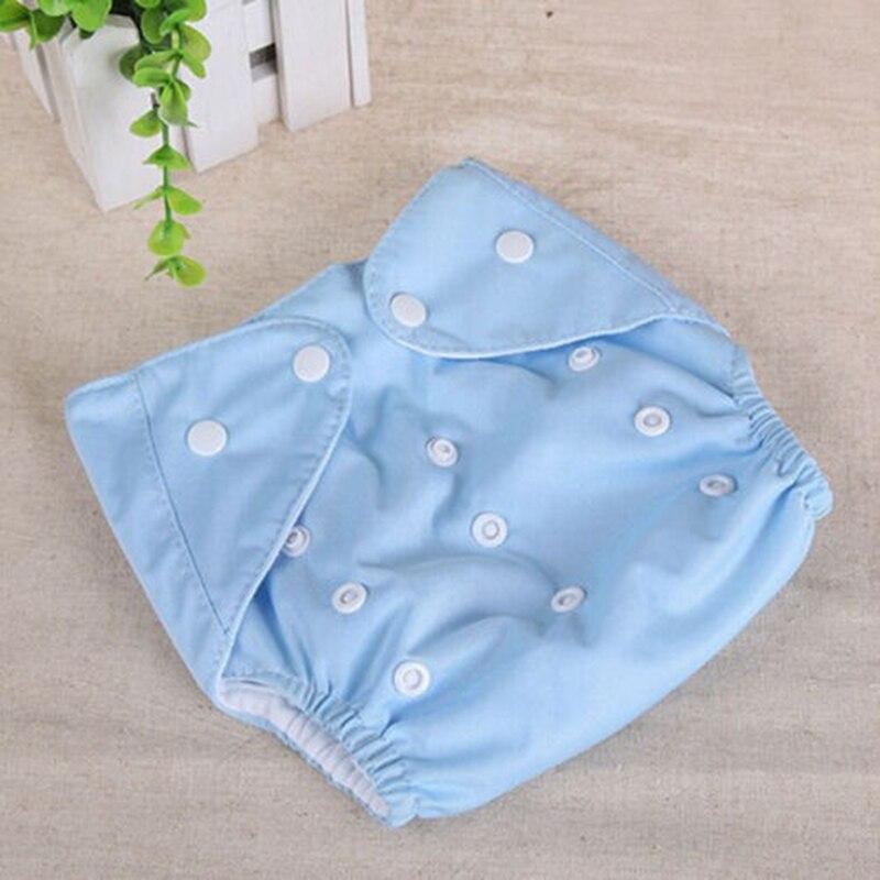 1 шт., регулируемые многоразовые тканевые подгузники для маленьких мальчиков и девочек, мягкие чехлы для младенцев, моющиеся подгузники - Цвет: Синий