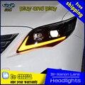 Estilo do carro Lâmpada de Cabeça para Toyota Corolla Altis Faróis 2011-2013 LED Daytime Running Luz Do Farol Bi-Xenon Acessórios HID