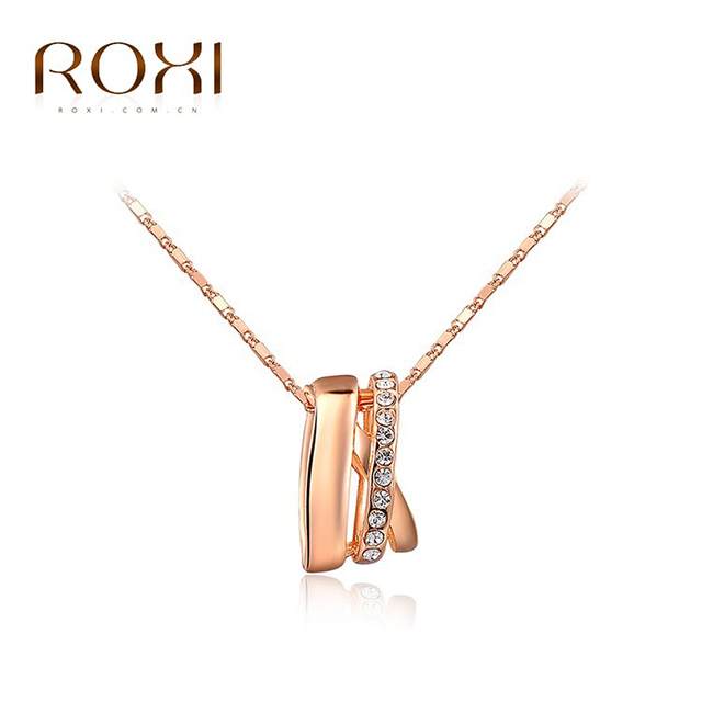 ROXI Vacation Gift New Fashion Jewelry Rose Gold Color Statement Elegant Fence Necklace Women Party Wedding