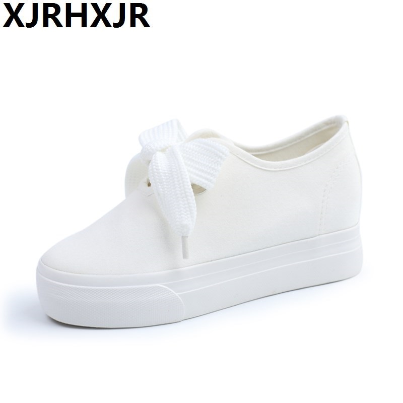 White Canvas Shoes Women Classic Low Top Flat Casual Shoes Fashion Solid Color Leisure Cloth Shoes Woman Sneakers Size 35-39