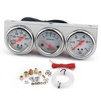 3 In 1 Car Kit Meters Triple Dashboard 52mm Car Gauge Chrome Holder Oil Temperature / Water Temperature / Oil Press Gauges