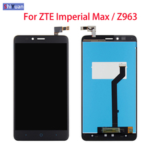 LCD For ZTE Imperial Max Z963 Z963VL Z963U LCD Screen Display Digitizer Screen Touch Panel Sensor Assembly with Frame 6.0 inch for elephone vowney lite touch screen sensor with lcd display panel assembly 100