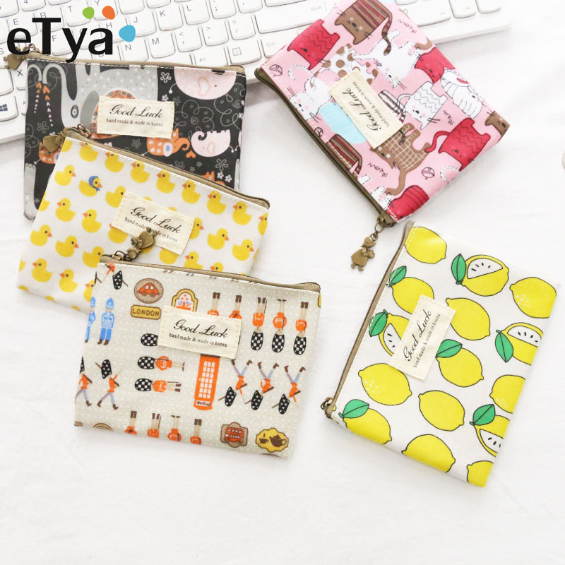 eTya Coin Purses Card Holders Cartoon Women Small Wallet Ladies Change Purse Child Mini Zipper Pocket Female Fashion Small Bags