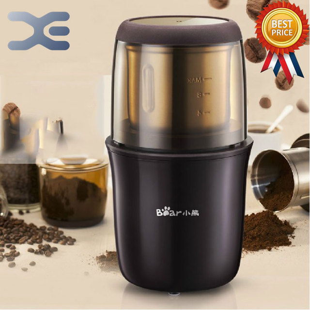 Automatic Manual Coffee Grinder Stainless Steel Blades Brewing Coffee Machine 2.6oz Burr Mill