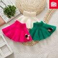 A versão Coreana crianças minissaia primavera menina saia de pelúcia colorido e warmproof macio frete grátis