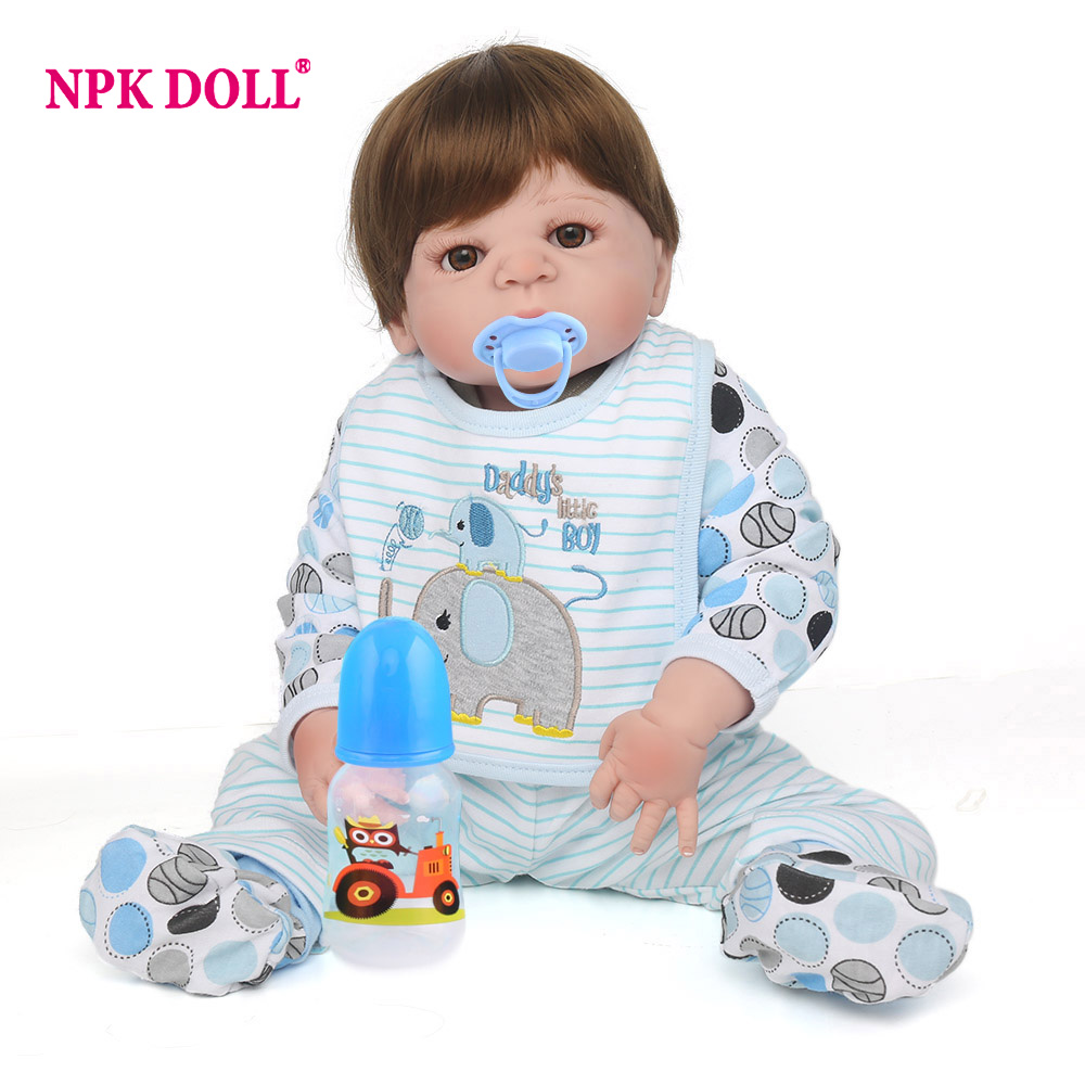 NPKDOLL 55cm Soft Silicone Doll Reborn Realistic Reborn Toddler Dolls boneca Reborn Dolls For Girls Toys For Kids Gift-in Dolls from Toys & Hobbies    1
