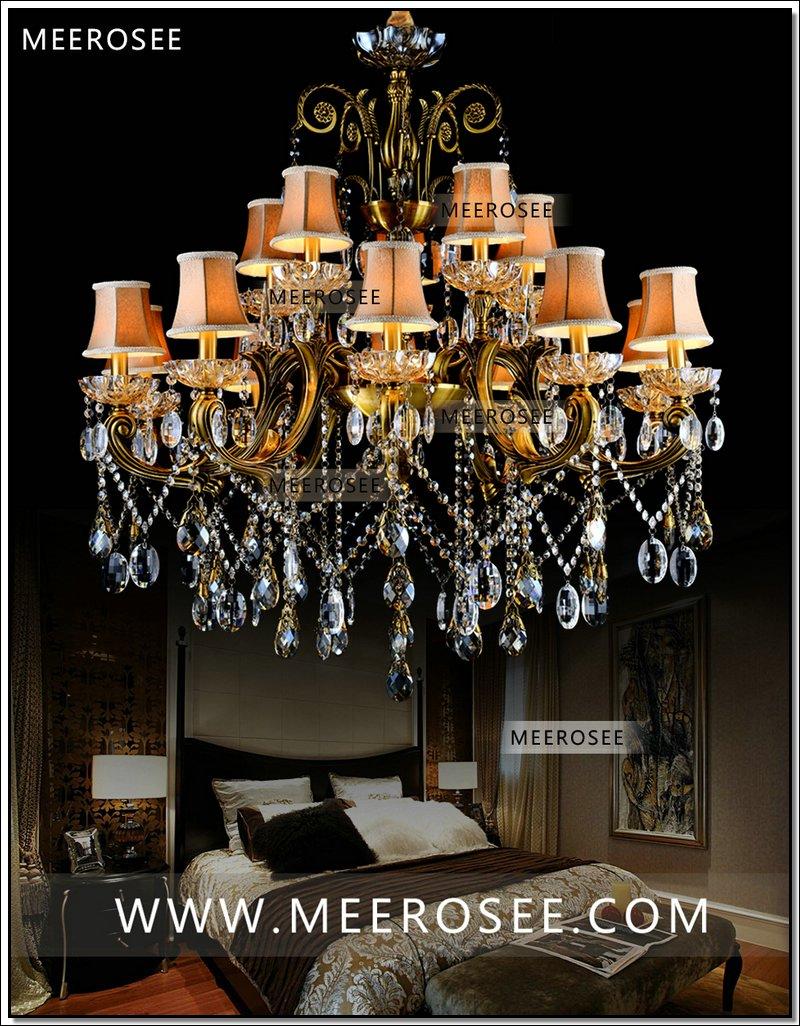 VROČE! Veliki kristalni lestenec svetilka starinska medenina Velika - Notranja razsvetljava - Fotografija 3