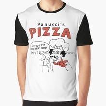 25cf03f4 All Over Print Women T Shirt Men Funny tshirt Panuccis Pizza Graphic T-Shirt