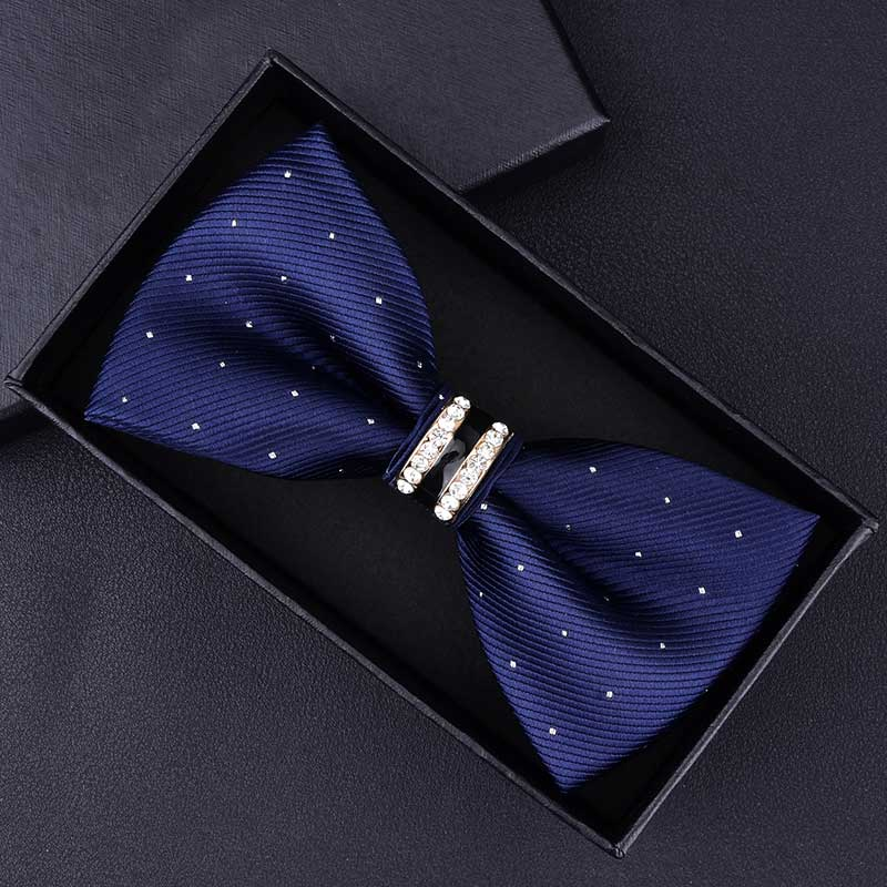 TieMart Pink and Royal Blue Striped Self-Tie Bow Tie
