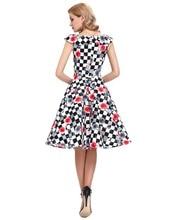 Vintage Plaid Womens Dresses 60s Casual Tunic Floral robe ete Retro Vestidos Women Dress Summer 2016 50s Rockabilly Dresses