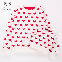 2019 New Mother/Father/Kid Family Matching Outfits Love Printe Sweater Mother and Daughter Clothes Mommy and Me Clothes