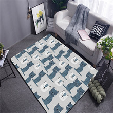200 cm * 230 large carpet Modern Home Mat Room Area Rug Floor Carpet For Living Bedroom Large Trellis Cat Tapete Para Sa