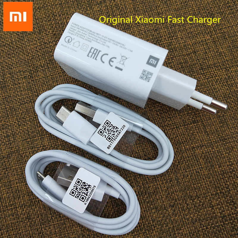Asli Xiao Mi 9 Se USB Charger Cpat Adaptor Dinding Ceat Charge Line Mi Cro/Kabe Tipe C untuk mi 9 T CC9 A3 Merah Mi K20 Note 7 Pro 7A