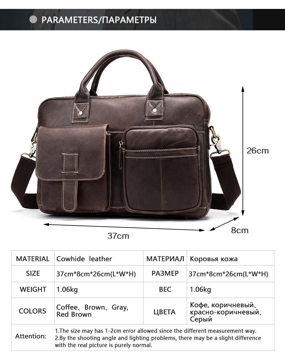 HTB1USHvatzvK1RkSnfoq6zMwVXaF WESTAL men's briefcase bag men's genuine Leather laptop bag office bags for men business porte document briefcase handbag 8503