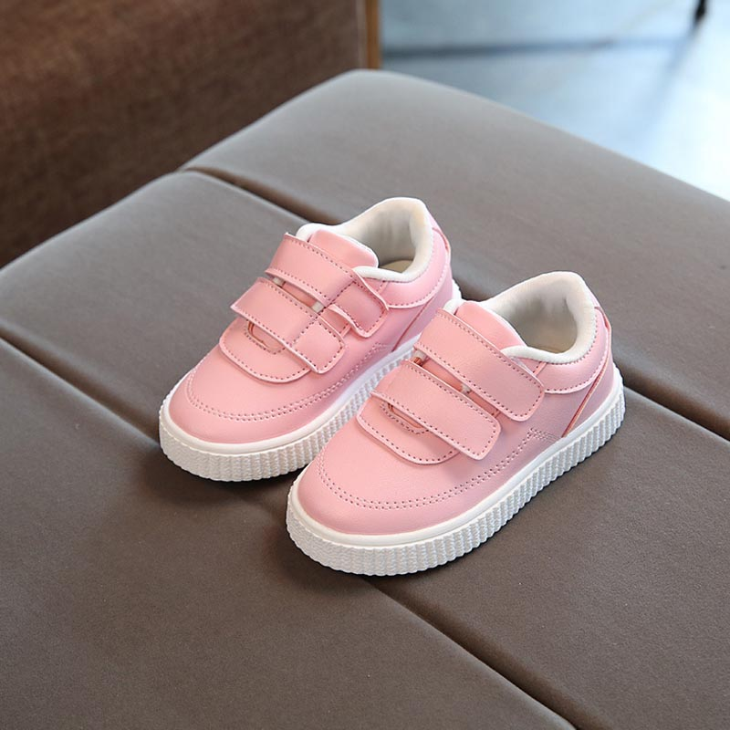 2018 New Children Fashion Sport Sneakers High Quality Soft Boys Girls Shoes Casual Kids Running Loafers White Shoes Size 21-36