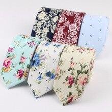 Necktie Cravate Colourful-Tie-Ties Paisley Skinny Slim Men's Cotton Narrow