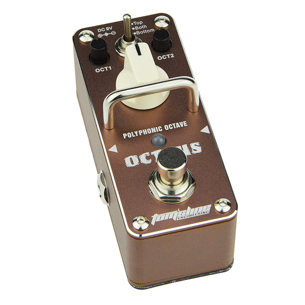 Tomsline AOS-3 OCTPUS Octave Polyphonic Guitar Mini Analogue Effect True Bypass AROMA nux roctary force simulator polyphonic octave stomp boxes electric guitar effect pedal fet buttered tsac true bypass
