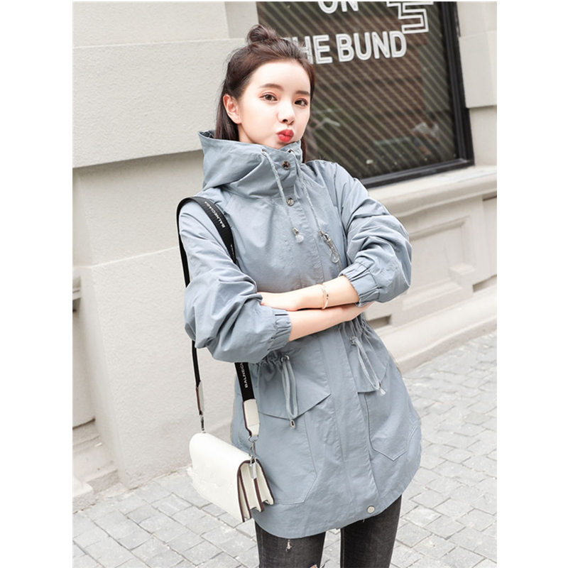 Spring Autumn Trench Coat Women Casual Hooded Casaco Feminino Windbreaker Coats Slim Plus Size M XXXL Ladies Trench Coat Z14