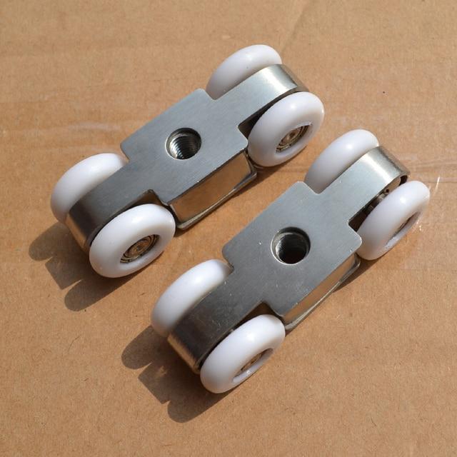 Free Shipping Door Roller Ultra Quiet Wooden Furniture Sliding Door Pulley  Hanging Track Nylon Wheel