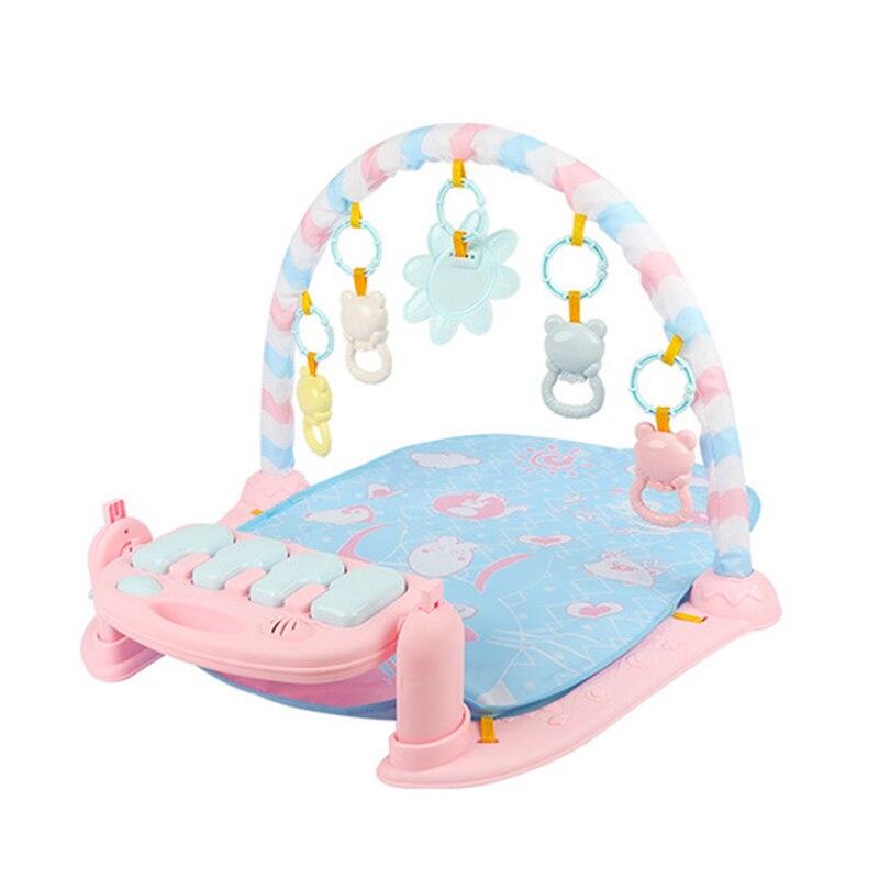 Pied Piano Gym tapis jouet éducatif anneau cloches éclairage musique tapis Fitness cadre activité bébé coup de pied jouer poser assis jouets JSG04