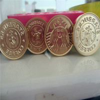 DIY Starbucks Logo Initial Customize Your Logo Name Box Set Personalized Letter Sealing Wax Wedding Wax