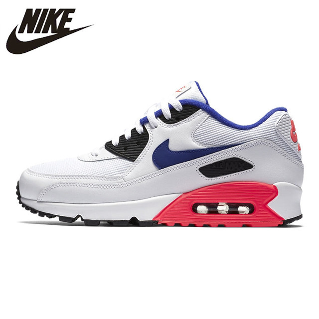size 40 41a0d 2056b Nike Air Max 90 Essential Women's Running Shoes, White & Pink, Shock  Breathable Non