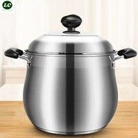 Deeper Casserole Soup Pot SUS#18/10 Health Cooking Pot Kitchen Cookware Pot Casserole Dining Bar Utensil