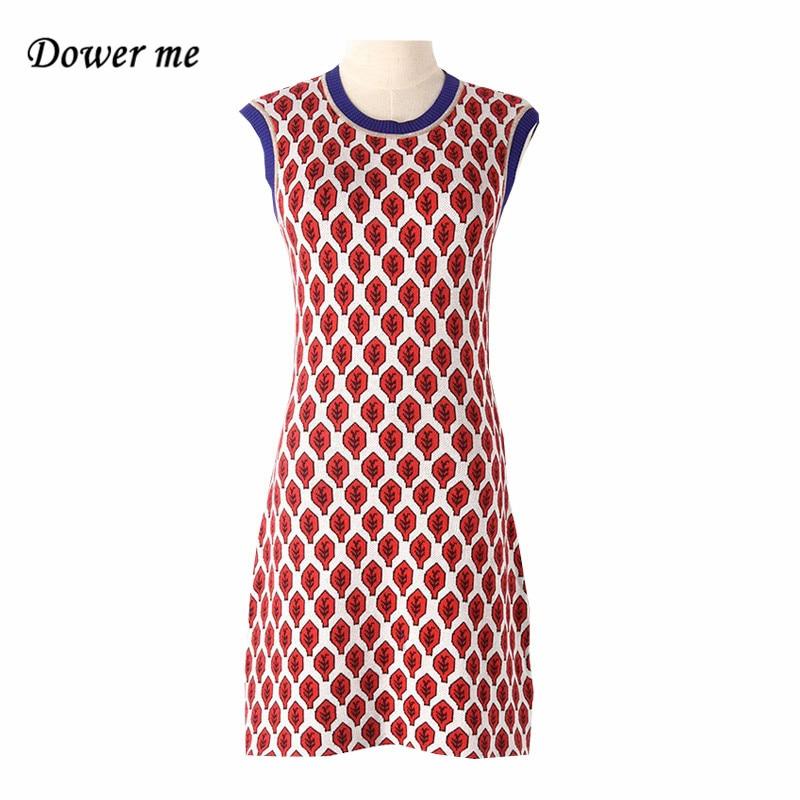 Мода панелями вязаное женское платье vestidos элегантный o-образным вырезом без рукавов дамы Платья для женщин женские очаровательные прямые п...
