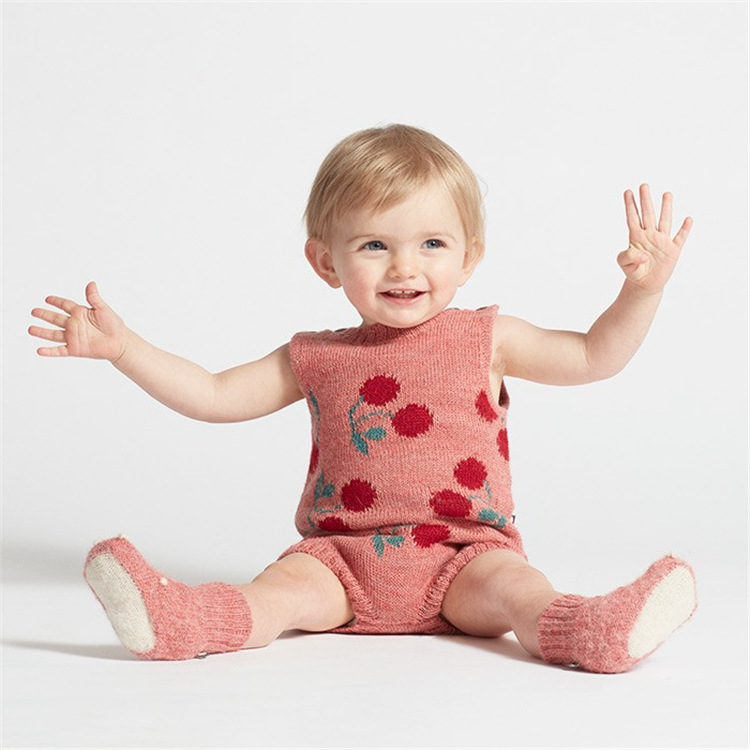 2018 summer baby girl clothes girls clothing kids dot cartoon baby rompers vestidos cherry rompe baby clothes kids clothes GIRL