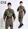 German flecktarn camo military uniform camouflage suit paintball army fatigues clothing emerson combat pants + tactical jacket