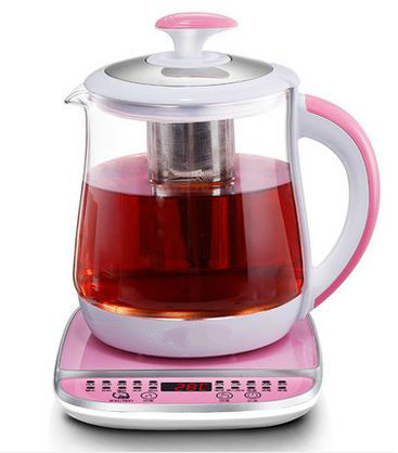 Electric kettle health pot fully automatic thickened glass multi-function electric heating kettle black Overheat Protection full automatic thickened glass multi function heating kettle steam black tea brewing electric kettles overheat protection