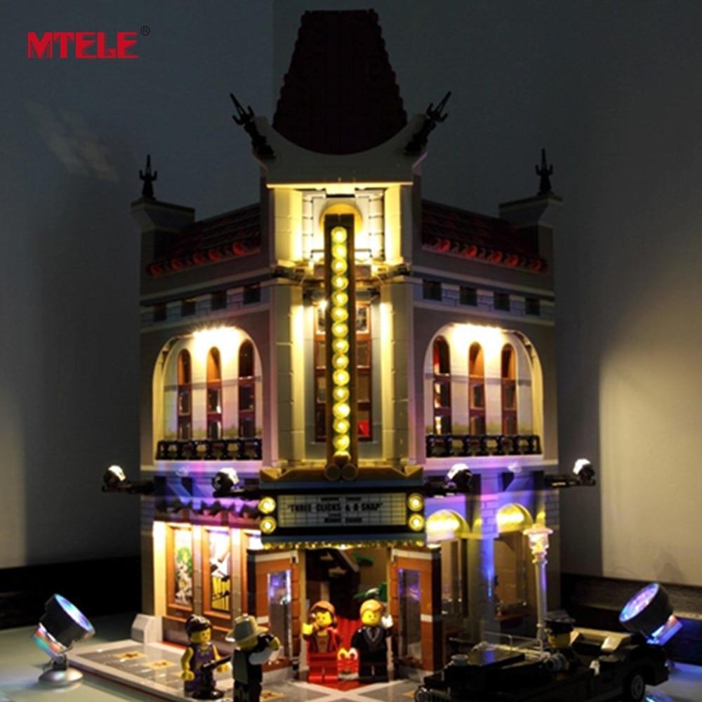 MTELE Merek LED Light Up Kit Untuk Pencipta Kota Jalan Palace Cinema - Mainan bangunan dan konstruksi - Foto 2