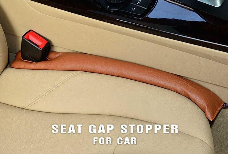 Livraison gratuite gris noir Beige marron coussin de siège de voiture fente bouchon en cuir PU protecteur étanche housse de siège de voiture