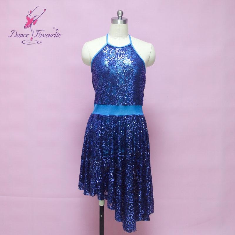 Dance Favourite sequin lace ballet costume dress, lady Lyrical contemporary dance costume women ballet dress girl ballerina tutu