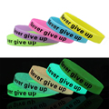 2 Size Silicone Rubber Elasticity Sport Wristband Cuff Bracelets Bangles for Women Men Glow In Dark HOT Sale Accessories