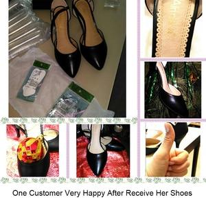 Image 4 - Женские кожаные сандалии Yalnn, на высоком каблуке, с ремешком на щиколотке, для вечеринок, большие размеры 34 43, 2019
