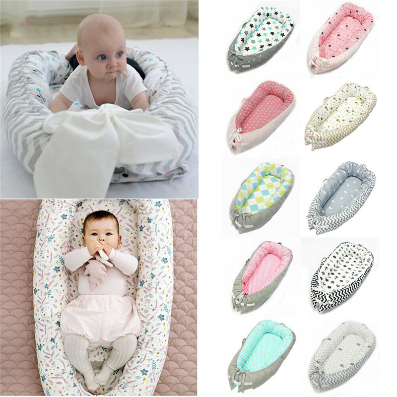 Removable Baby Nest Bed Sleeper Cotton Soft Babynest Crib Travel Bed Newborn Cot Double Sided C Pillow Bed